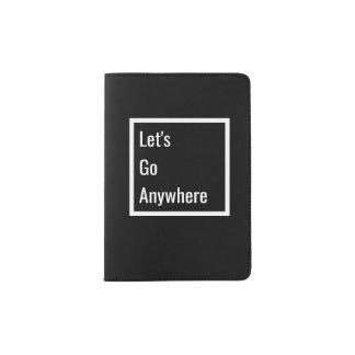 Minimalist Black & White Passport Holder