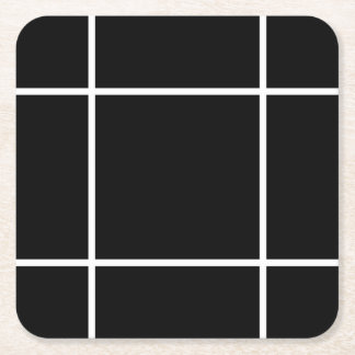 Minimalist Black & White Pattern Coasters
