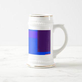 Minimalist Blue 18 Oz Beer Stein