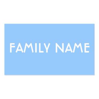 Minimalist Blue Business Card Template