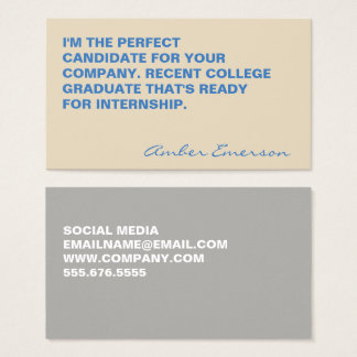Minimalist Bold Large Quote Business Card