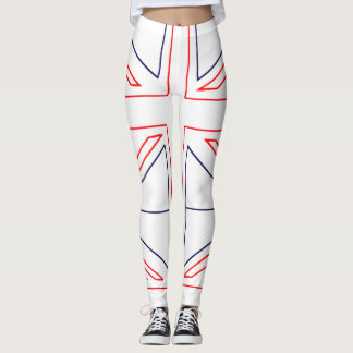 Minimalist British Flag Leggings