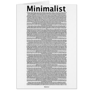 minimalist card