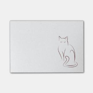 Minimalist Cat Post-it Notes