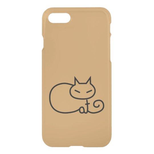 Minimalist Cat Typography Phone Case