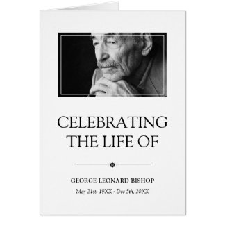 Minimalist Celebration of Life Funeral Program