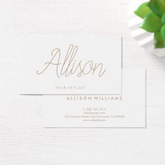 Minimalist Chic Elegant Calligraphy Script Business Card