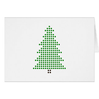 Minimalist Christmas Card Dot style Christmas tree