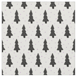 Minimalist Christmas tree Fabric