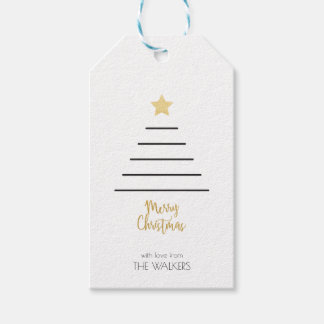 Minimalist Christmas Tree Gift Tag
