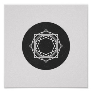 Minimalist Circle Black and White Poster