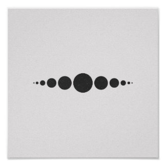 Minimalist Circles Black and White Poster