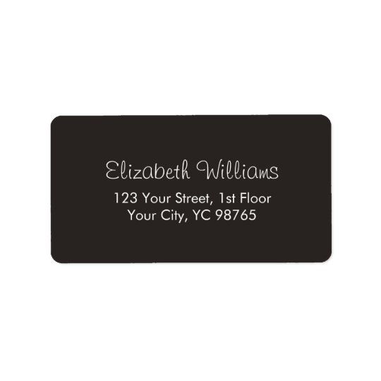 Minimalist Classic Elegant Ivory Black White Label