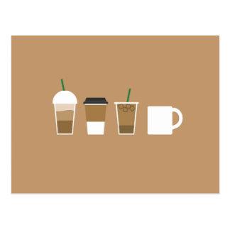 Minimalist Coffee Drinks Postcard