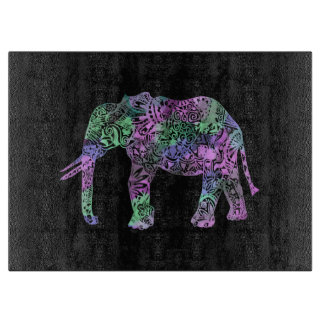 minimalist colorful tribal floral neon elephant boards