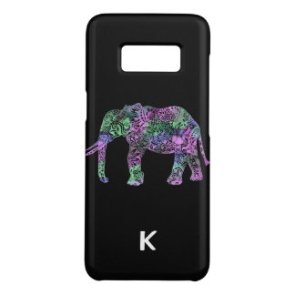 minimalist colorful tribal floral neon elephant Case-Mate samsung galaxy s8 case