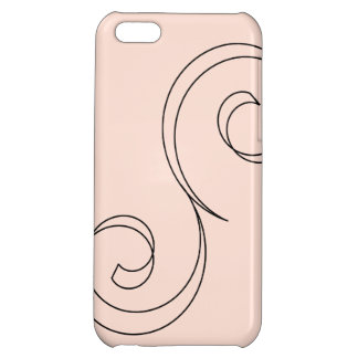 Minimalist Coral Scroll Cover For iPhone 5C