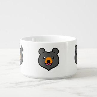 Minimalist Cute Black Bear Cartoon Bowl