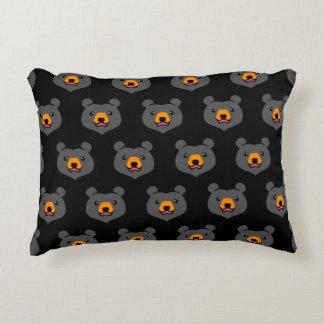 Minimalist Cute Black Bear Cartoon Decorative Pillow