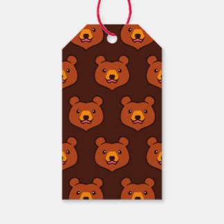 Minimalist Cute Grizzly / Brown Bear Cartoon Pack Of Gift Tags