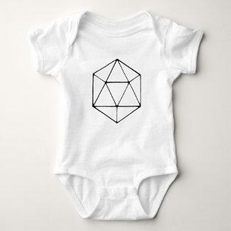 Minimalist D20 Design Tabletop Gamer Geek Baby Bodysuit
