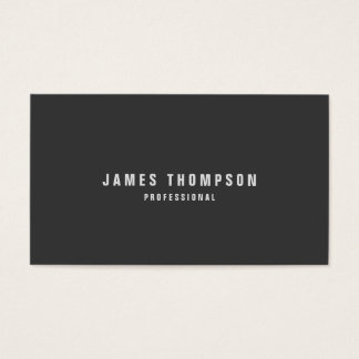 Minimalist Design Custom Color Professional Business Card