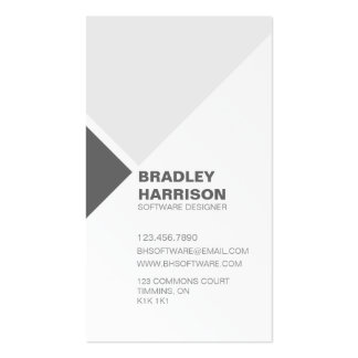 Minimalist Diagonal Square Pattern - Black Business Card