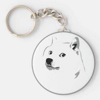 Minimalist dogecoin keyfob keychain