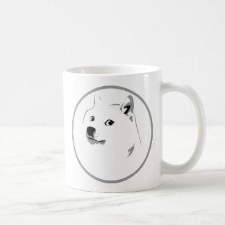 Minimalist dogecoin print coffee mug