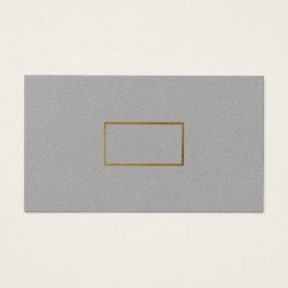 minimalist elegant chic gray premium business card