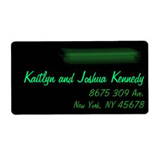 Minimalist Elegant Emerald Green Mint  Address Shipping Label