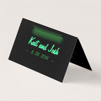 Minimalist Elegant Emerald Green Mint Seating Place Card