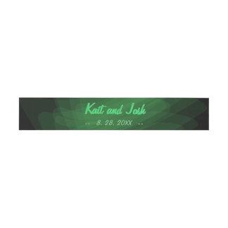 Minimalist Elegant Emerald Green Mint Wedding Invitation Belly Band