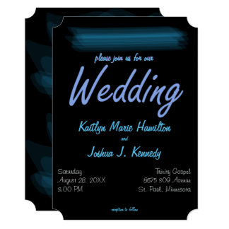 Minimalist Elegant Glowing Gothic Wedding Card