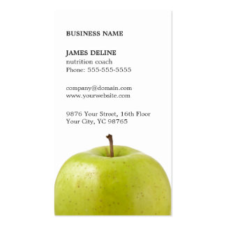 Minimalist Elegant Green Apple Nutritionist Pack Of Standard Business Cards
