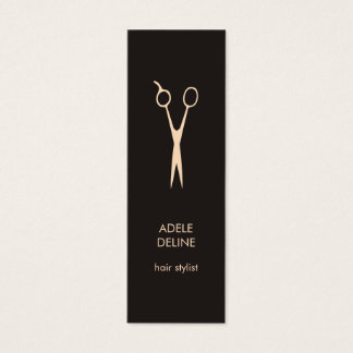 Minimalist Elegant Hair Stylist Mini Business Card
