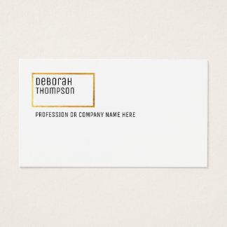 minimalist elegant & modern chic clear white business card