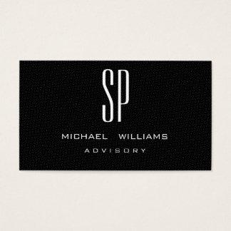 MINIMALIST ELEGANT PROFESSIONAL BLACK ELEGANT BUSINESS CARD