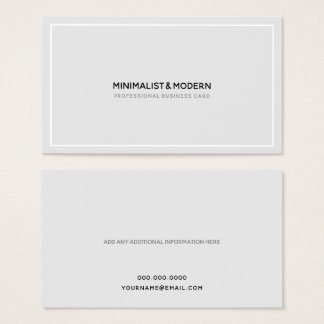 Minimalist Elegant Professional black white Business Card