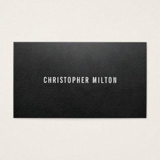 Minimalist Elegant Texture Black Consultant Business Card