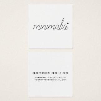 minimalist elegant thin script on white square business card