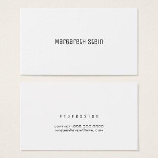 minimalist elegant unica one font style white business card