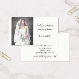 Minimalist Elegant Wedding Planner Business Card