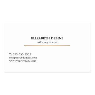 Minimalist Elegant White Faux Gold Line Attorney Business Card