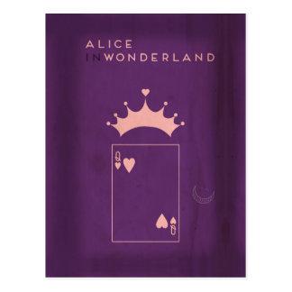 Minimalist Fairy Tales | Alice in Wonderland Postcard