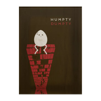 Minimalist Fairy Tales   Humpty Dumpty Acrylic Print