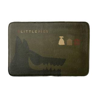 Minimalist Fairy Tales | The 3 Little Pigs Bath Mat