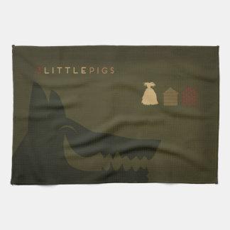 Minimalist Fairy Tales | The 3 Little Pigs Kitchen Towel