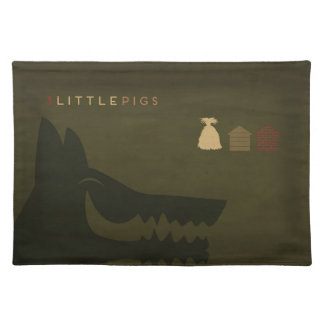 Minimalist Fairy Tales | The 3 Little Pigs Placemat