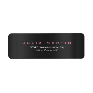 Minimalist Feminine Gray Pink Professional Return Address Label